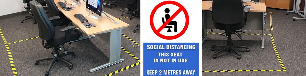 social distancing training room