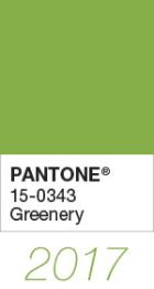 pantone greenery colour swatch