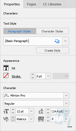 InDesign CC 2019 - New Properties Panel