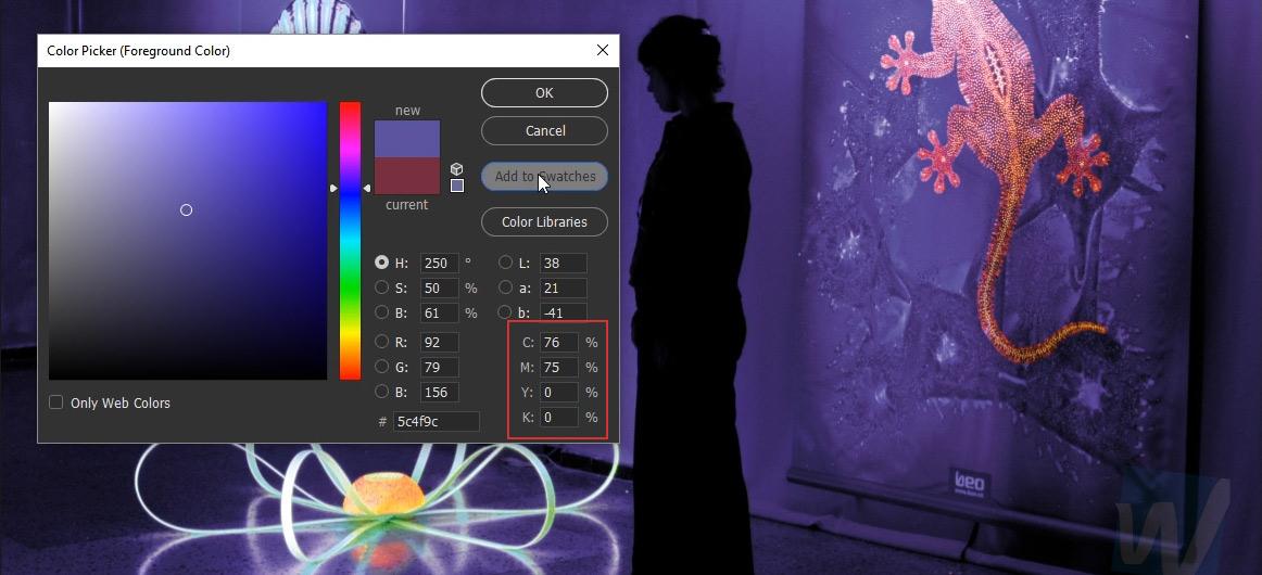 photoshop cc pantone ultraviolet swatch