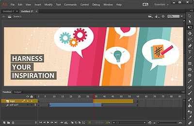 Adobe Animate CC animated banner